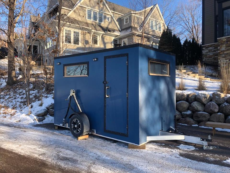 stokeyard mobile sauna from custom mobile saunas outside in neighborhood