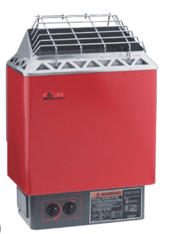 Red Electric Sauna Heater made by Polar