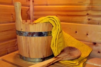 sauna laddle and water bucket for steam l