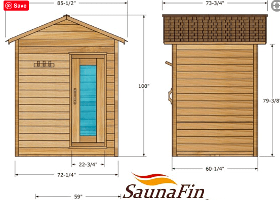 Dundalk outdoor cabin cedar sauna