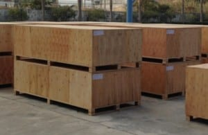 barrel sauna shipping crates