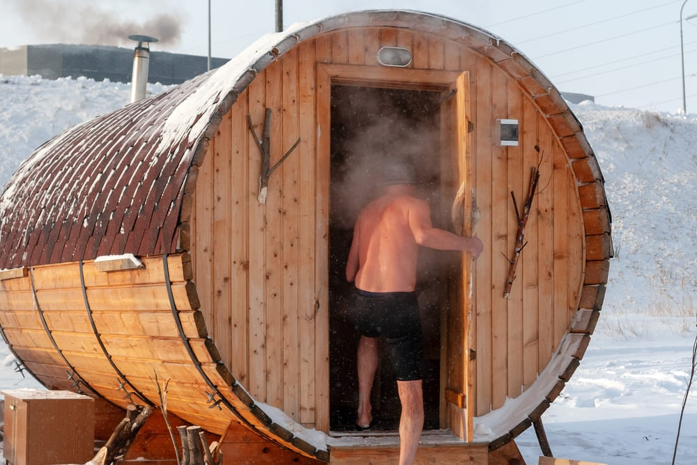sauna cold plunge ice bath